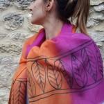 Etamine-de-laine-peint-main